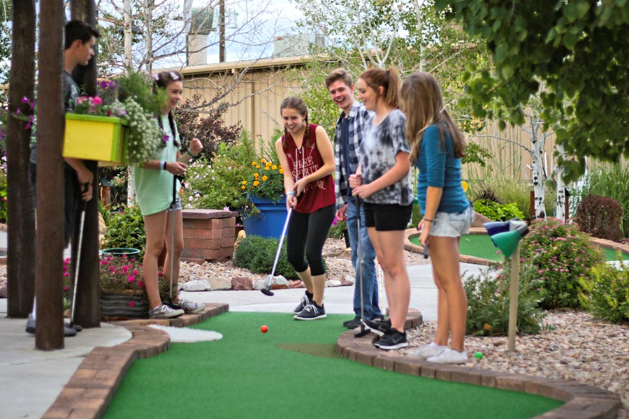 Six Teens Playing Miniature Golf | Bananas Fun Park - Grand Junction, CO