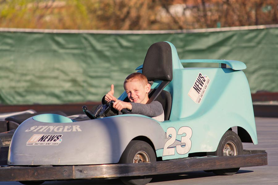 Rookie Karts Thumbs Up Rider | Bananas Fun Park - Grand Junction, CO